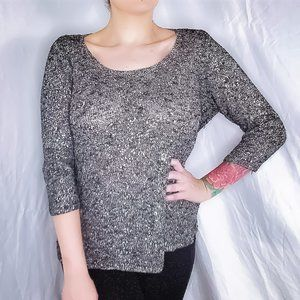 Eileen Fisher Knit Shimmer Top